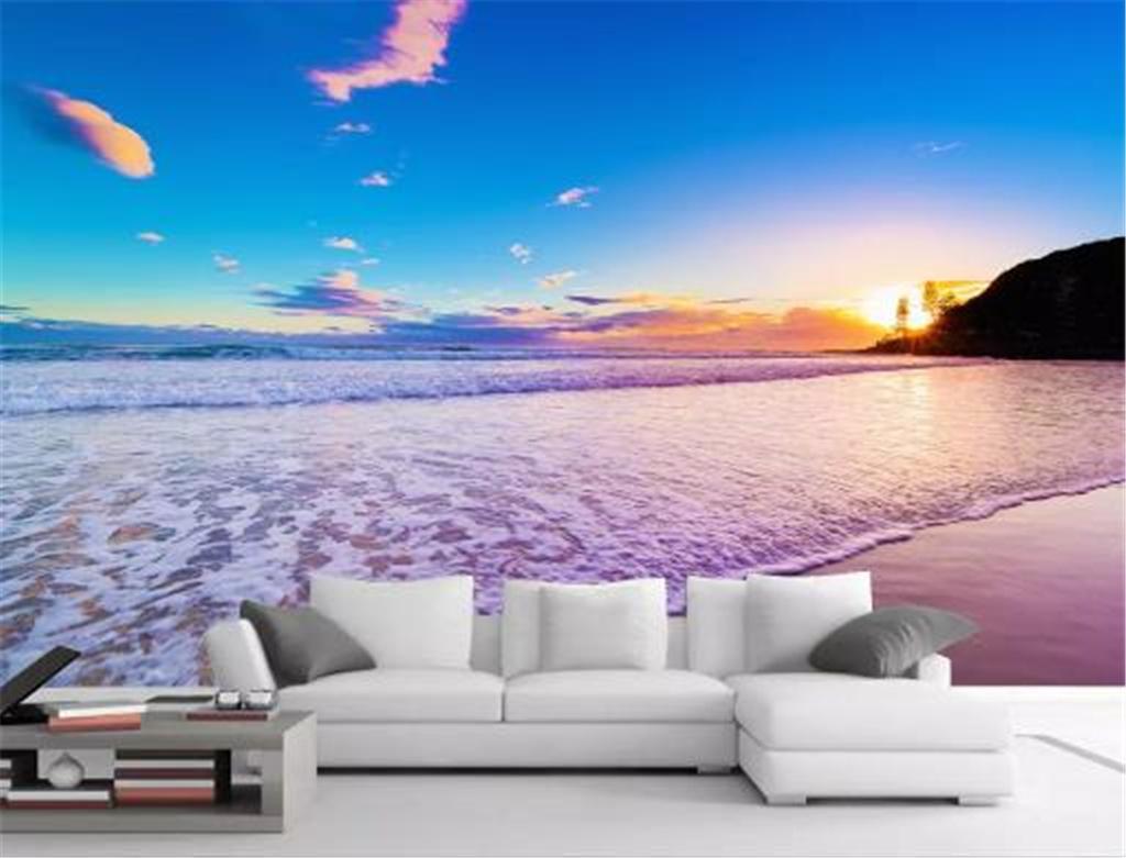 Custom Photo 3d Wallpape HD Digital Print Wallpaper Seaside Sunset 1024x781