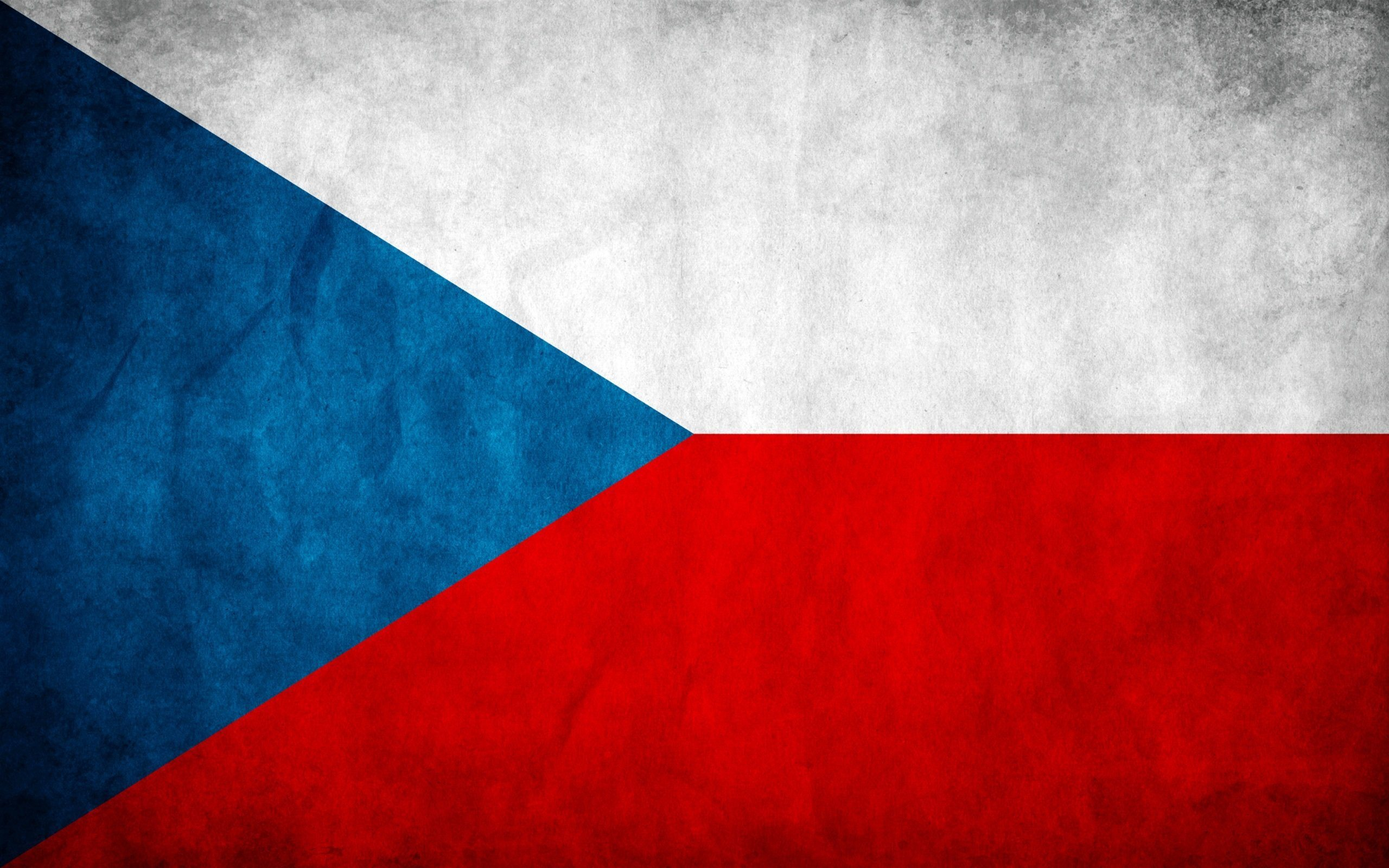 Download wallpapers Czech Republic flag Czech flag wall texture 2560x1600