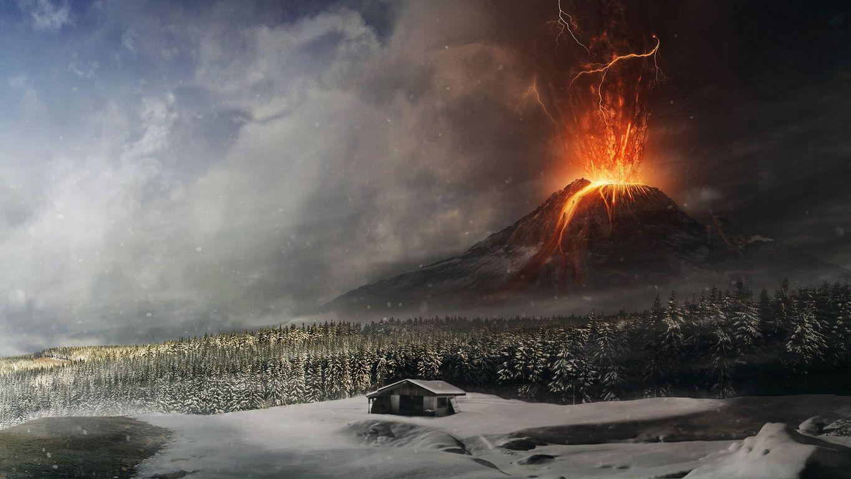 Volcano eruption wallpaper 18923 1365x768