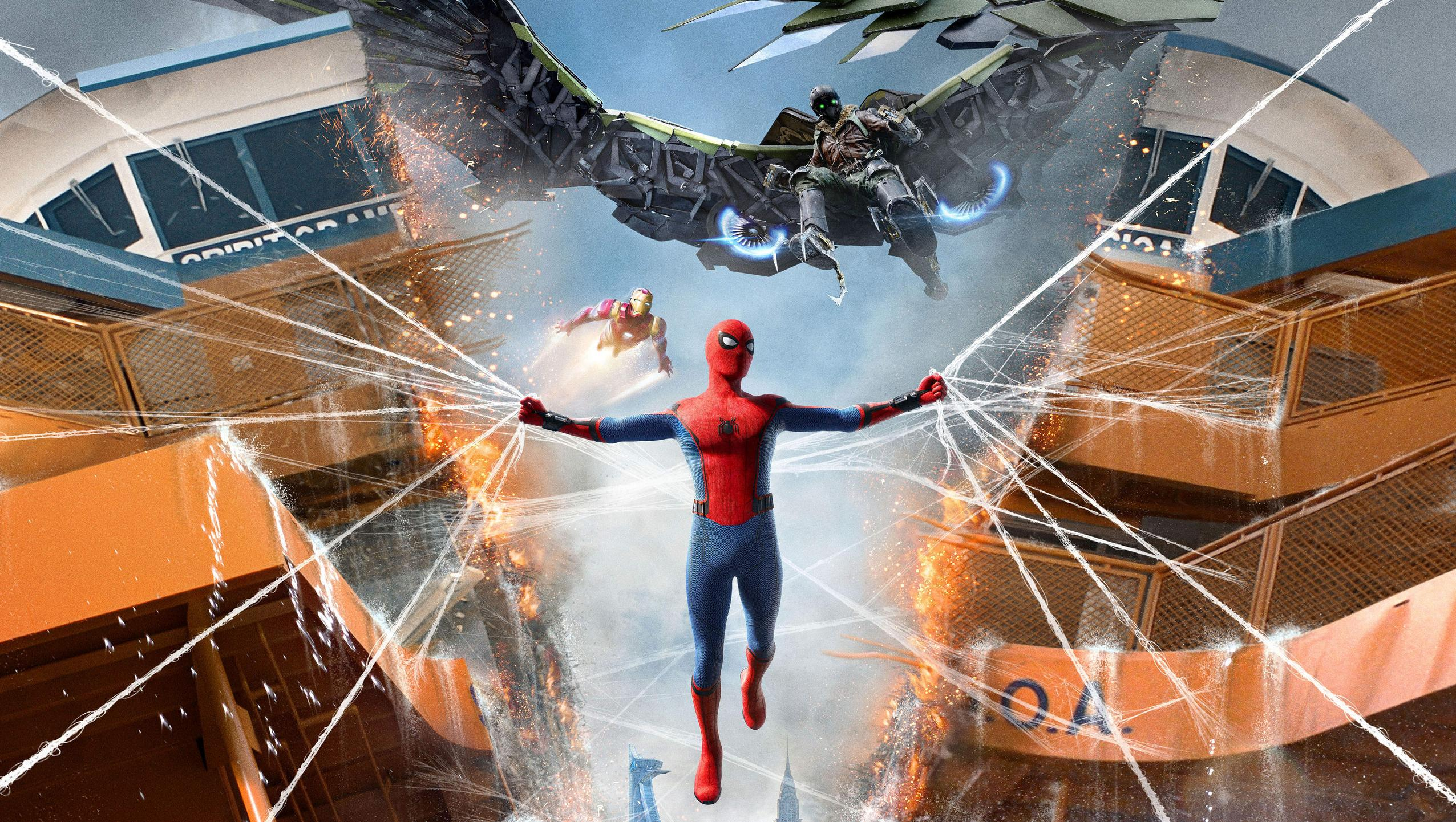 Spider Man Homecoming 2017 Desktop Wallpaper Moviemania 2552x1442