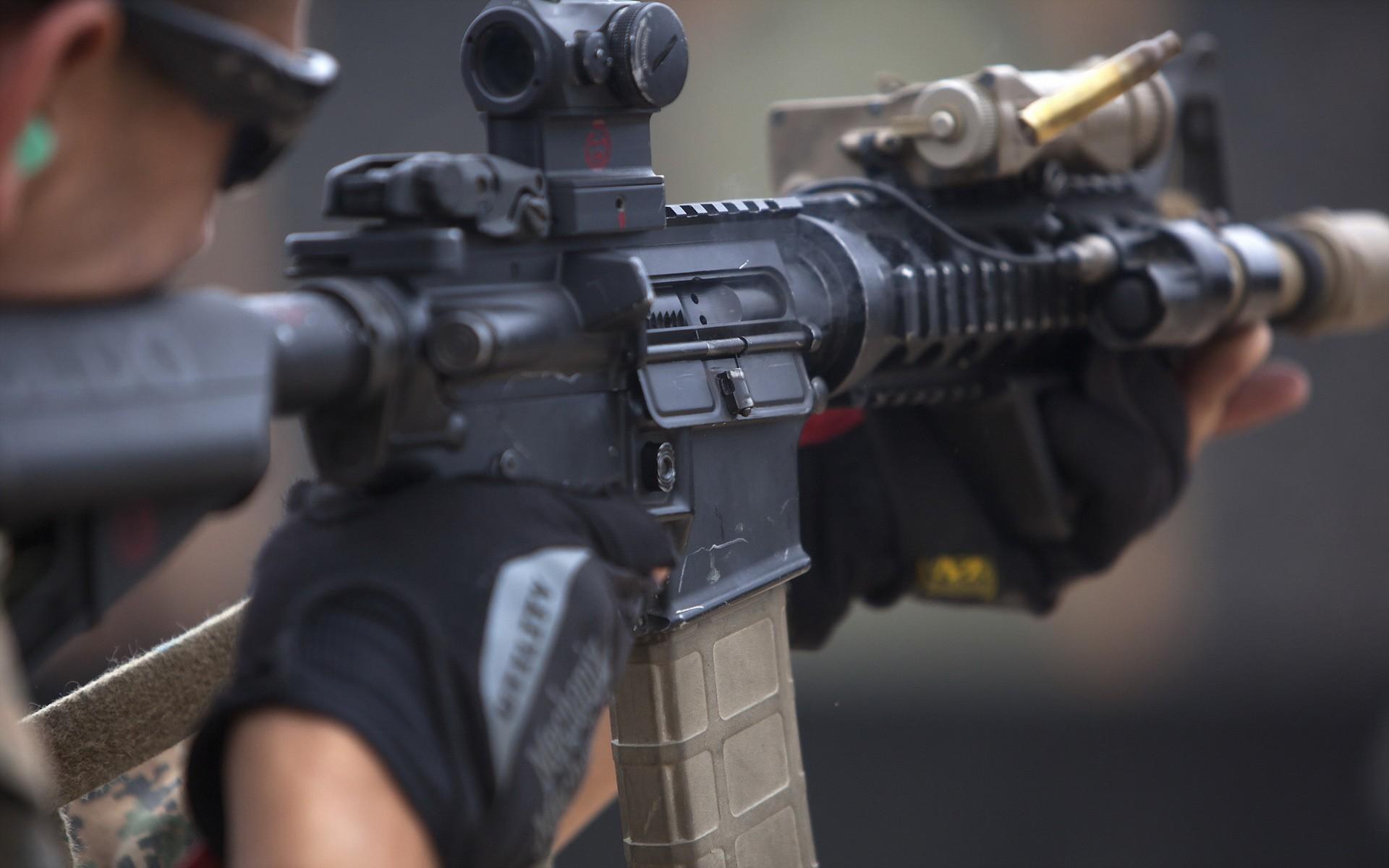 USMC M4 m4 rifle usmc 1920x1200