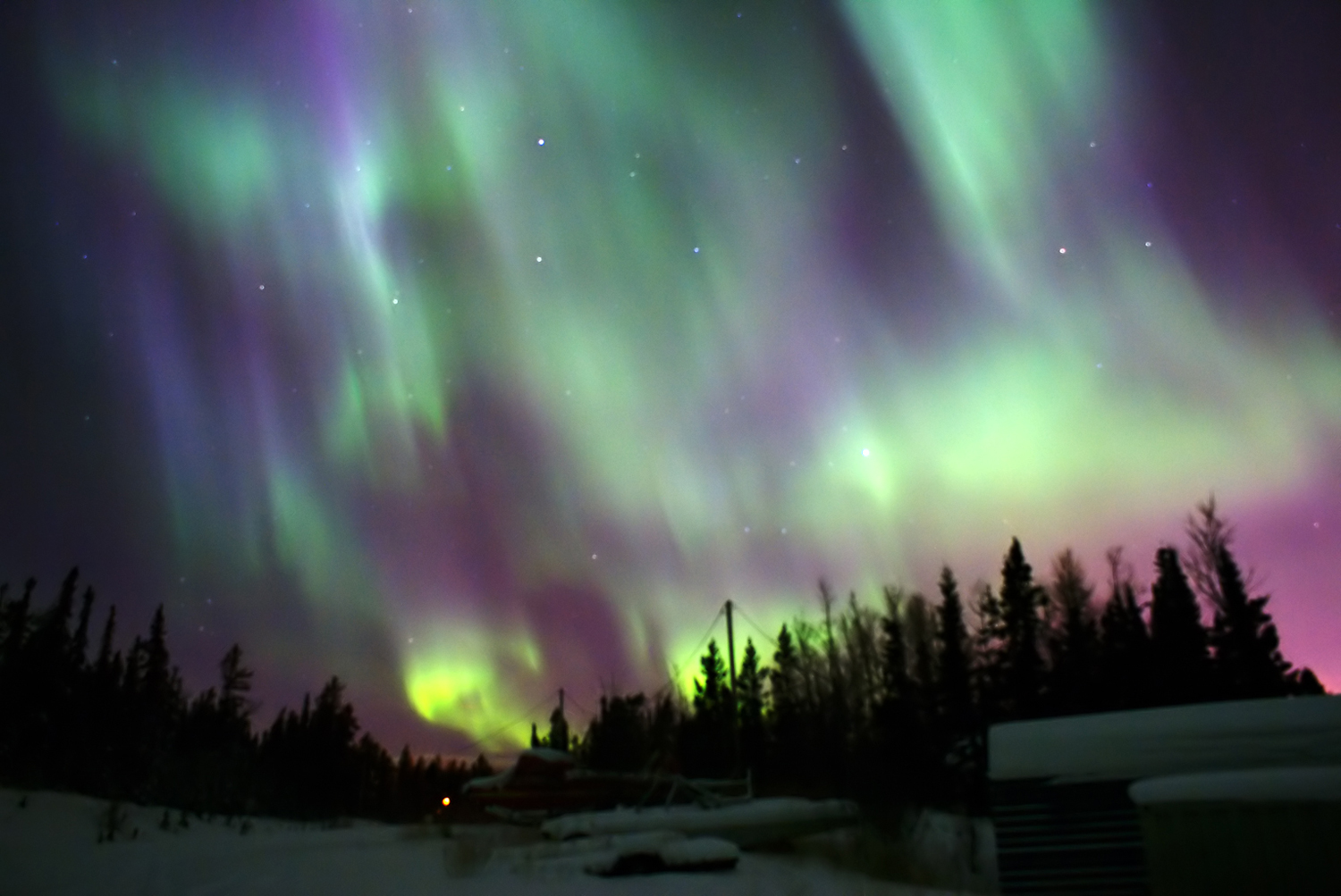 Free Download Northern Lights In The Yukon 1500x1003 For