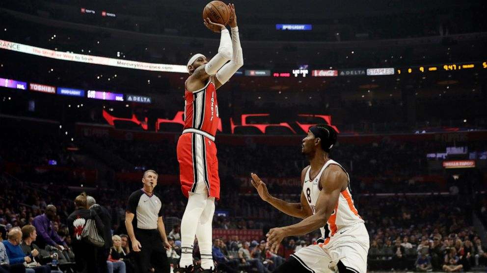 Blazers give Carmelo Anthony a guaranteed contract   ABC News 992x558