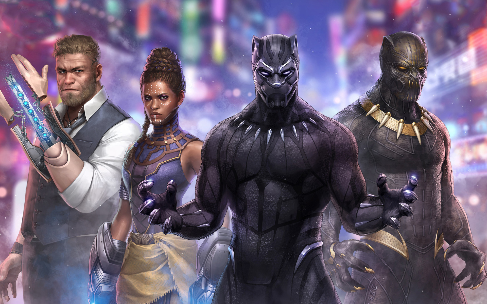 Free Download Black Panther Marvel Future Fight Artwork Wallpapers