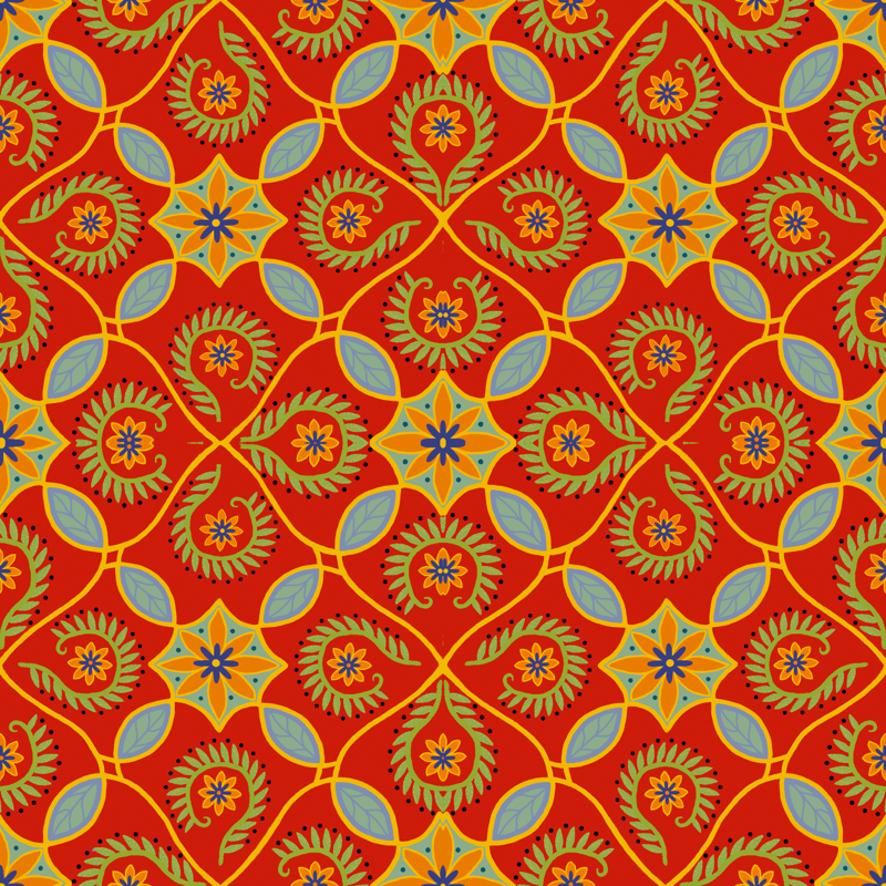 Mexican Design Fabric Wallpaper 800x800
