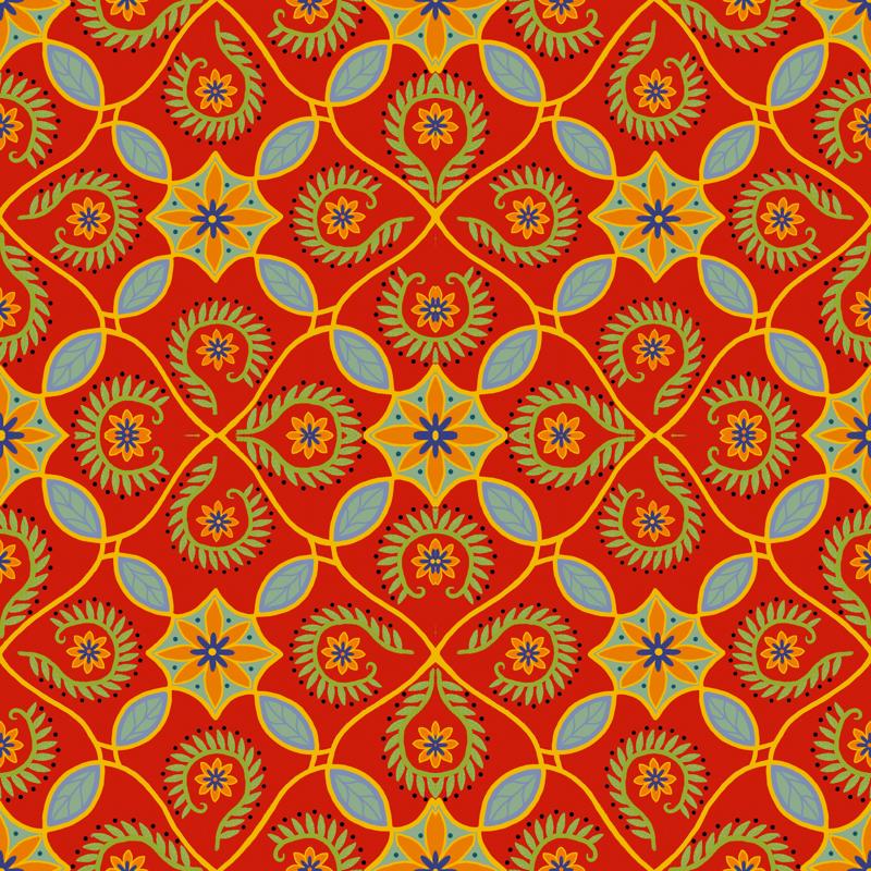 Mexican Design Fabric Wallpaper 800x800