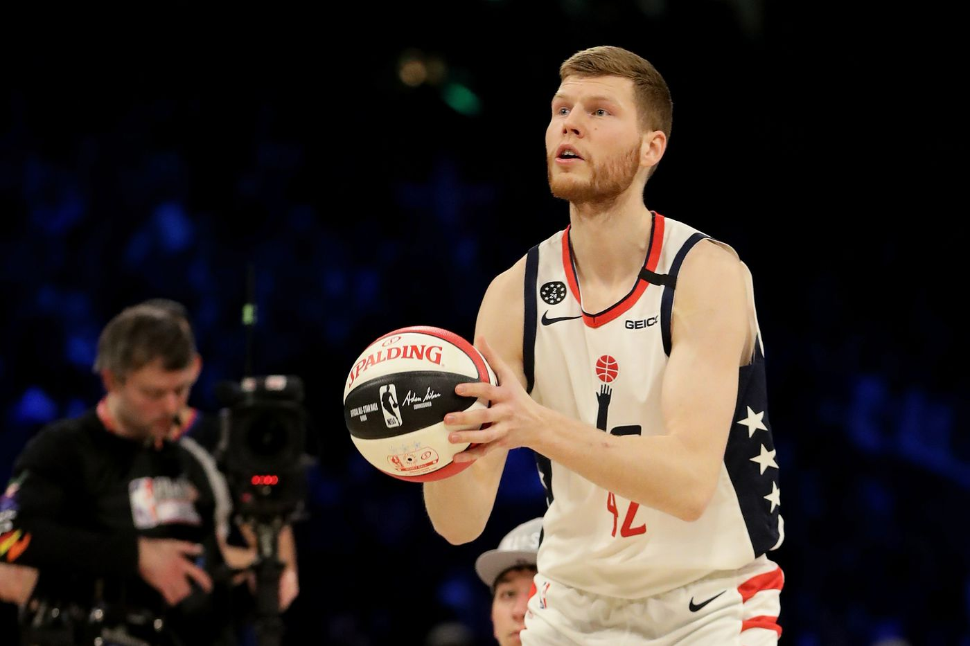 2020 NBA 3 Point Contest Wizards Davis Bertans finishes 3rd 1400x933