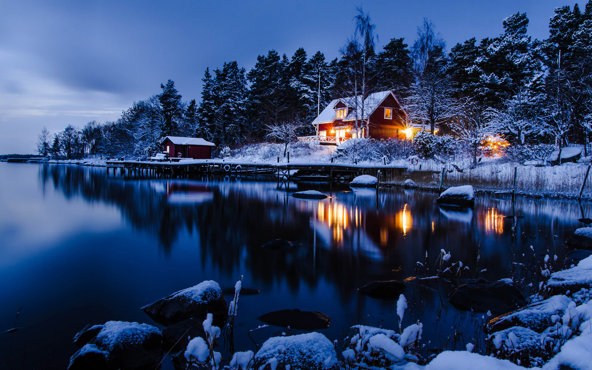 Beautiful Winter Night Wallpaper Freetopwallpapercom 1920x1200