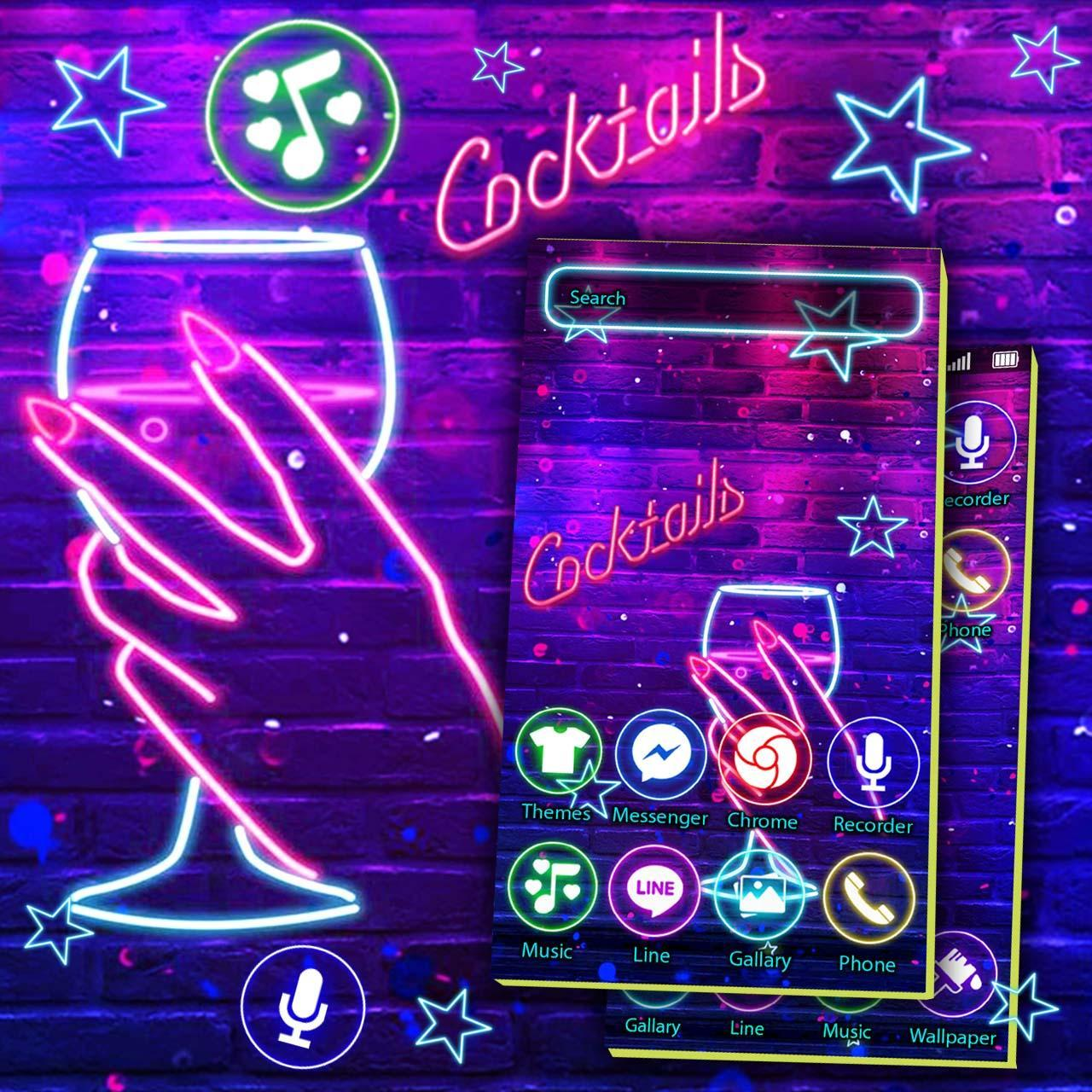 Neon Wine Bar Theme Live Wallpaper for Android   APK Download 1280x1280