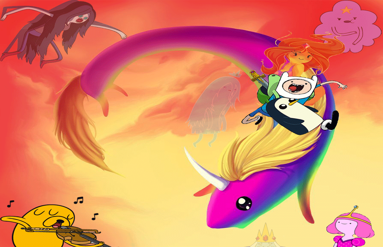 Adventure Time with Finn and Jake wallpaper by HystericDesigns on 1240x800