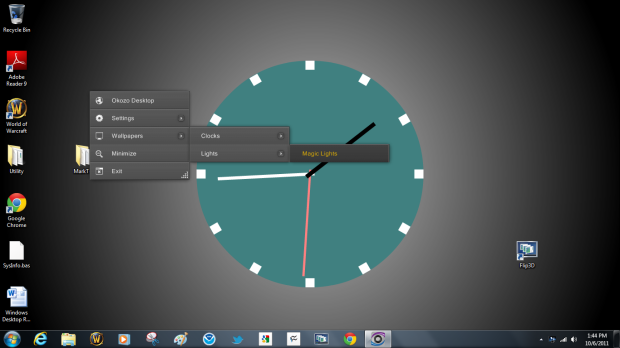 how to add a clock to windows 7 desktop