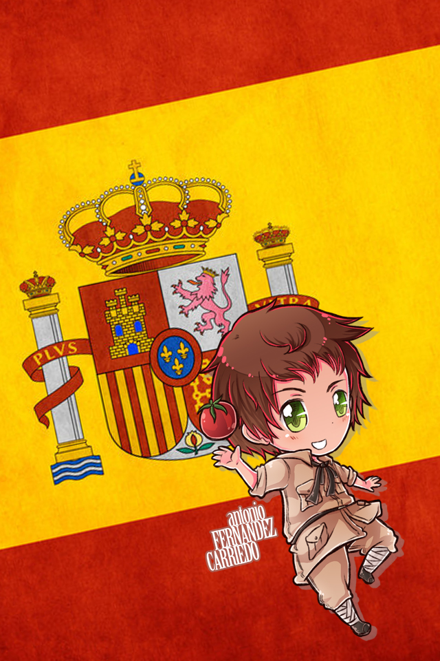 Hetalia iWallpapers   Spain by Dreamweaver38 640x960