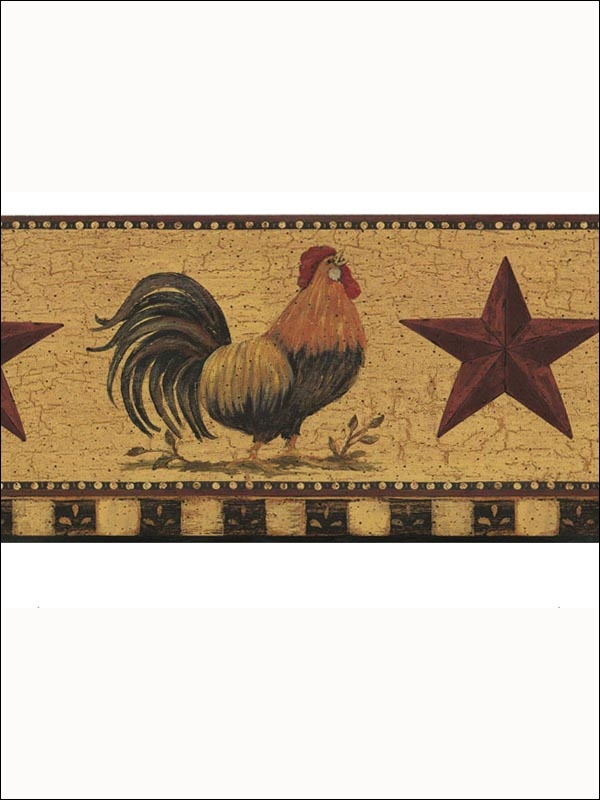 Rooster and Star Border for Wallpaper WallpaperBoardersWallies 600x800