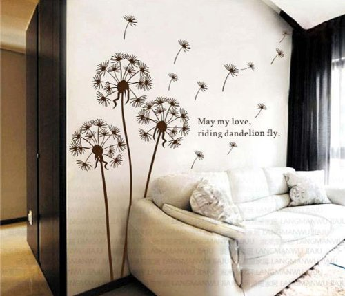 Dandelion Nursery Kids Room Removable Quote Vinyl Wall Decals Stickers 500x428