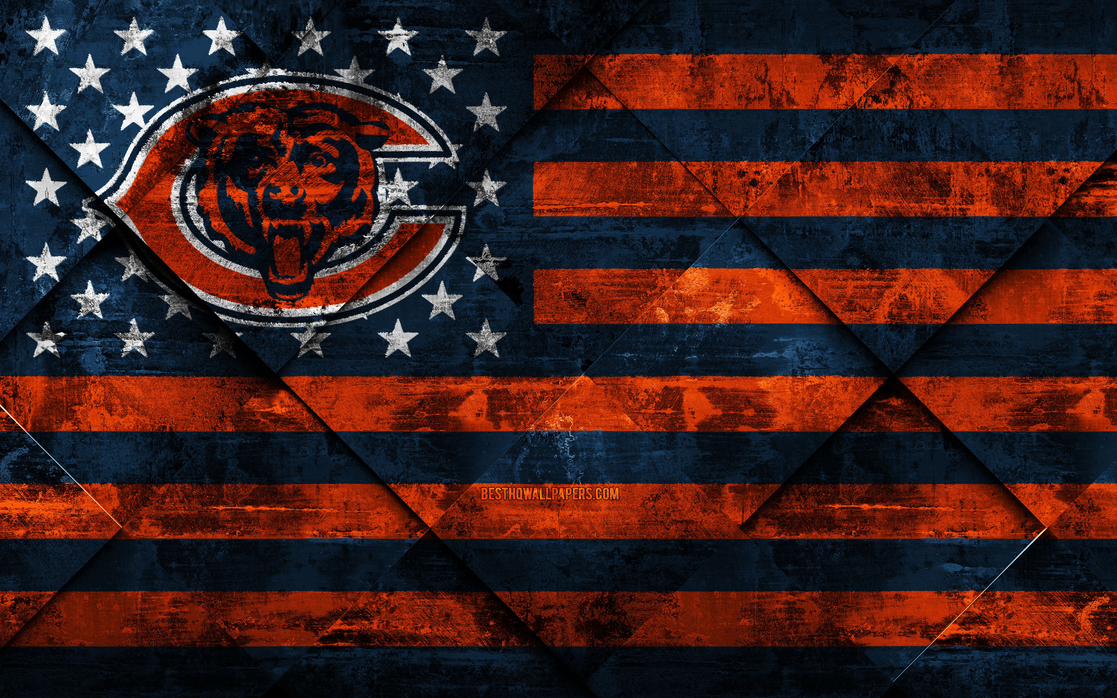 Download wallpapers Chicago Bears 4k American football club 3840x2400