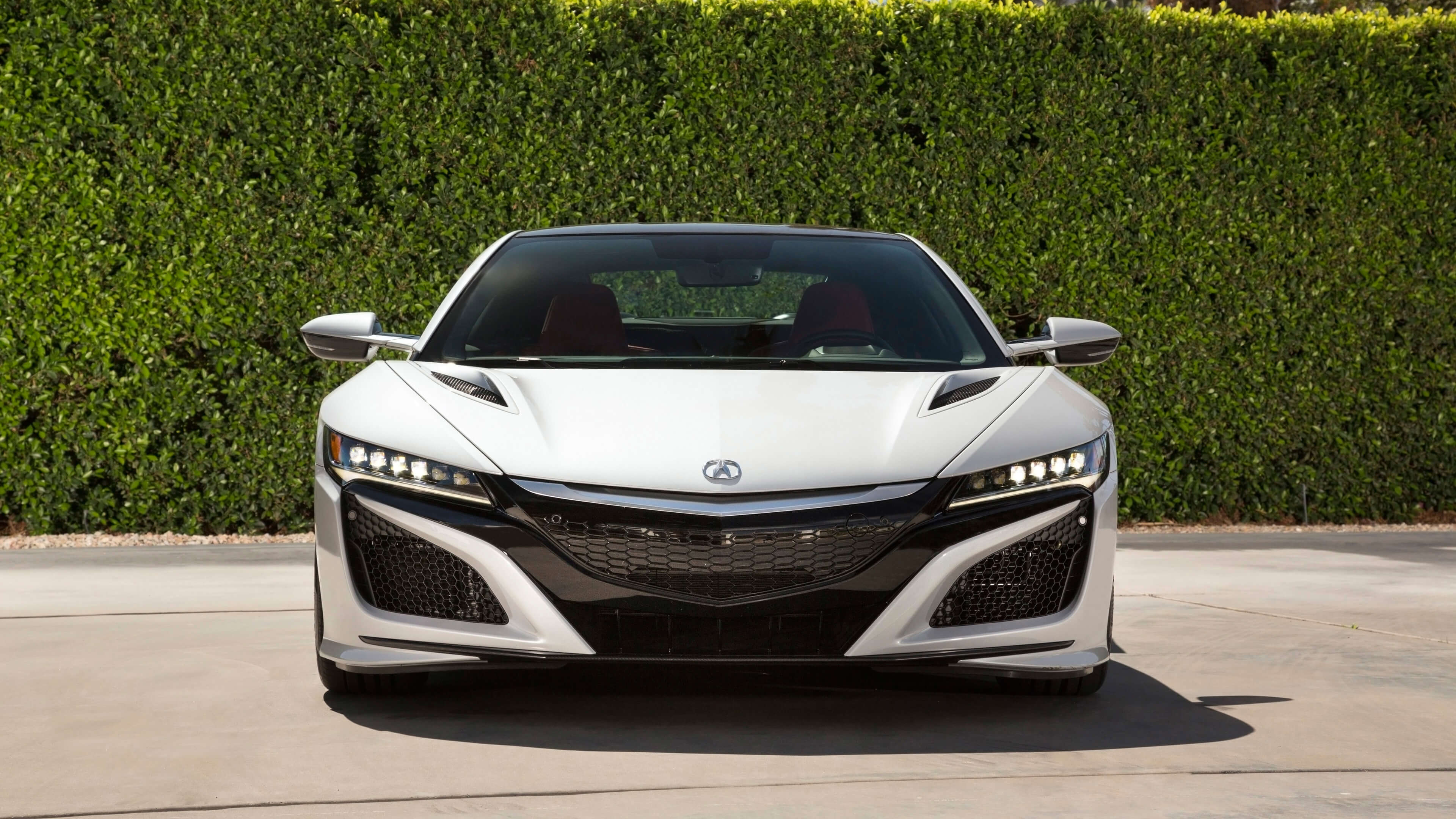 White Acura NSX HD Wallpaper Background 63387 3840x2160px 3840x2160