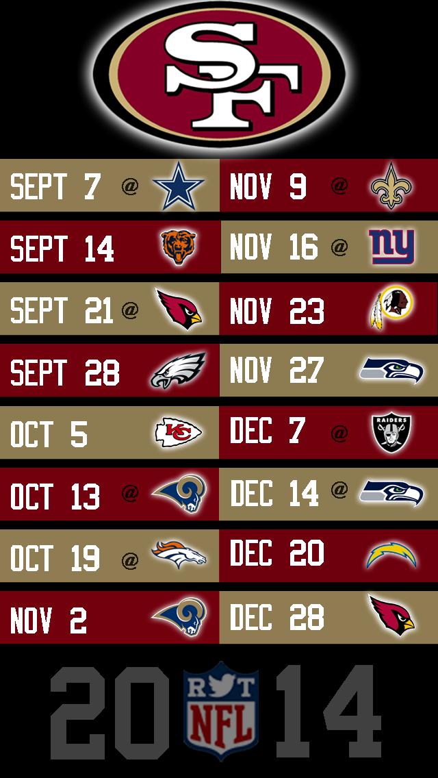 San Francisco 49ers 2014 2015 Schedule City 640x1136