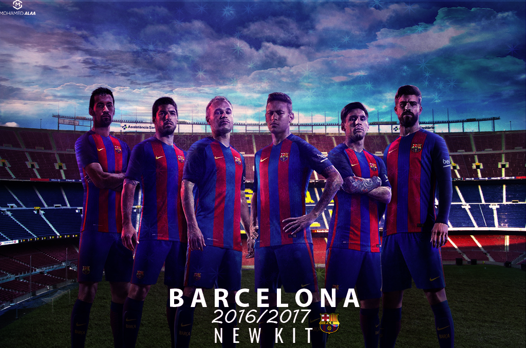 BARCELONA NEW KIT WALLPAPER 20162017 on Behance 1024x679 7698f10c7f696