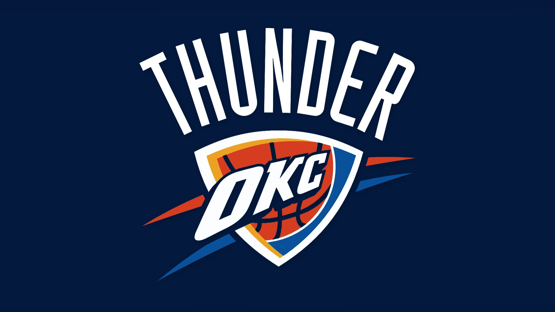 NBA Oklahoma City Thunder Logo Blue Back 1920x1080 HD NBA Oklahoma 1920x1080