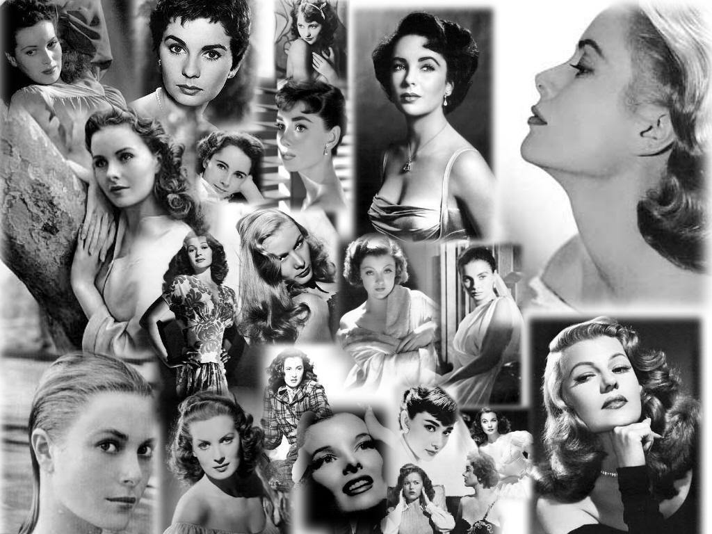 Classic Hollywood Actresses Wallpaper 1024x768