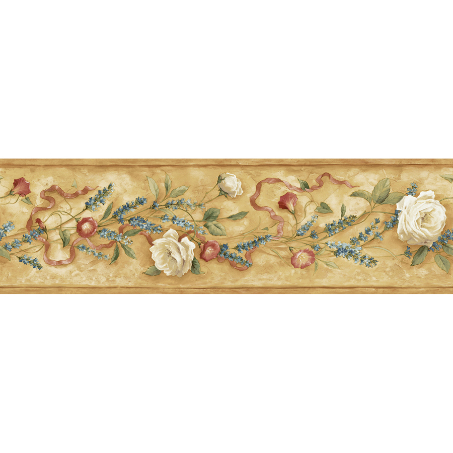 roth 6 18 Brown Floral Trail Prepasted Wallpaper Border at Lowescom 900x900