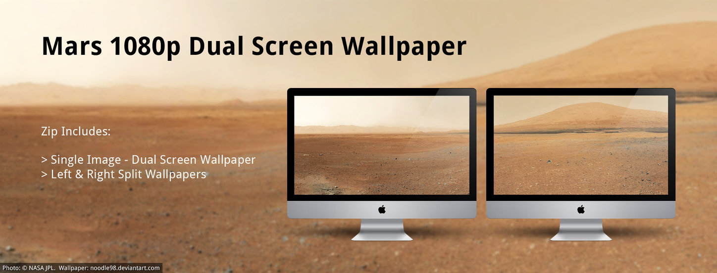 Mars HD   Dual Screen Wallpaper by noodle98 1448x552