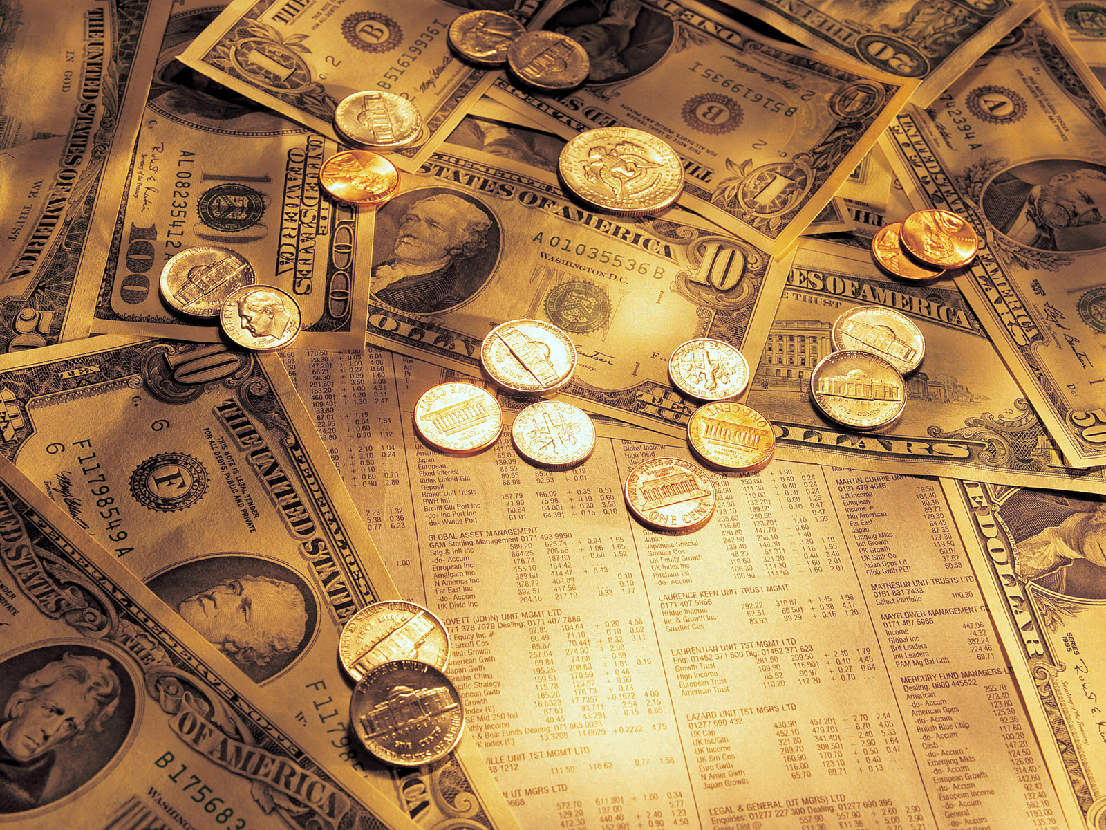HD cool wallpapers of money 1600x1200