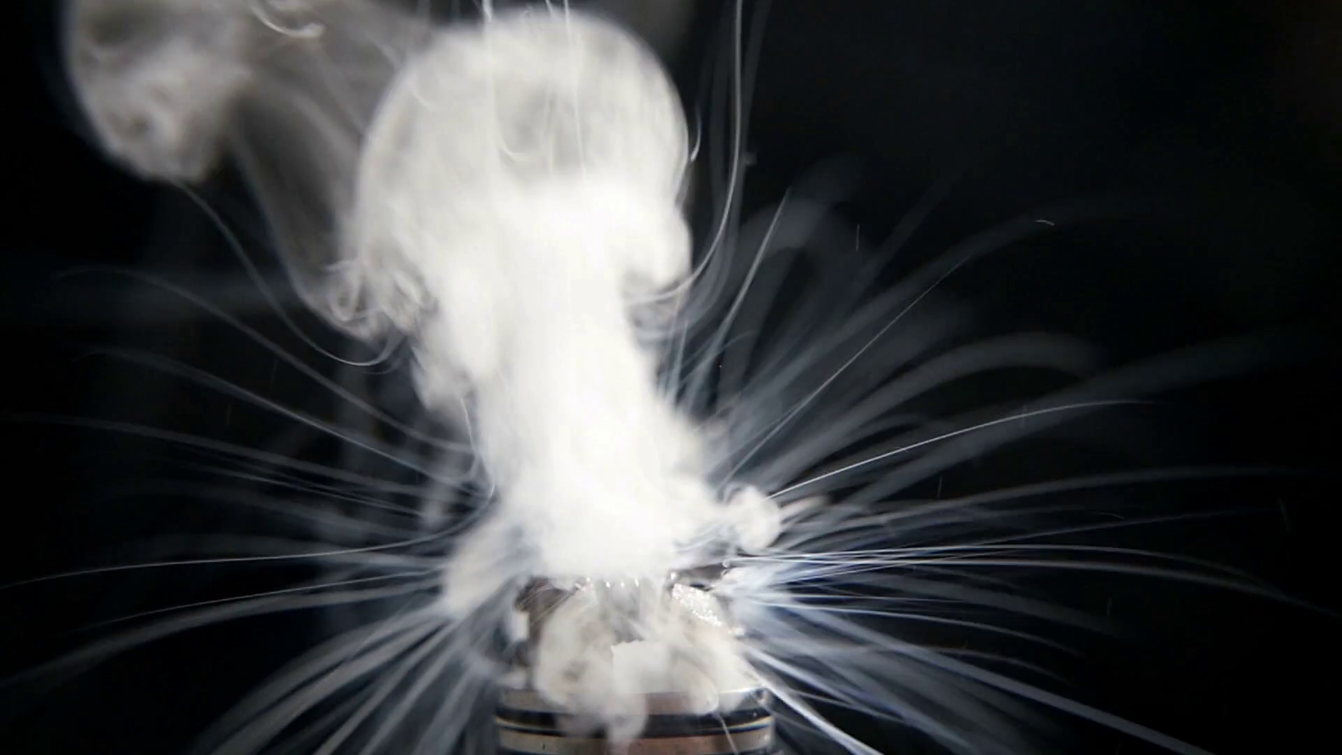 working of micro coil in RDA base close up slow motion Stock 1920x1080