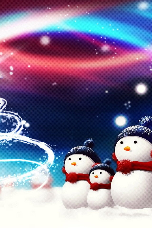 10 HD Christmas iPhone 4S Wallpapers PPT Bird I Saw 640x960