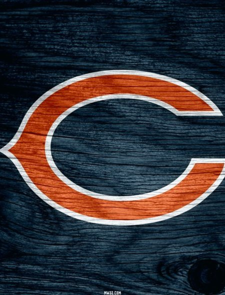 Chicago Bears Blue Weathered Wood Wallpaper for BlackBerry Curve 9310 450x590