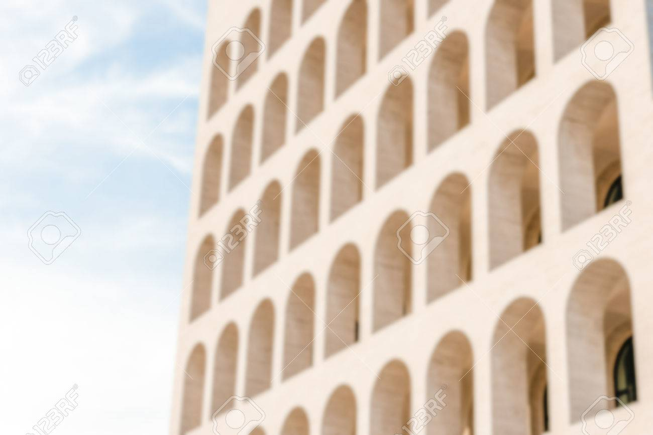 Defocused Background Of Neoclassical Architecture In Rome Italy 1300x867