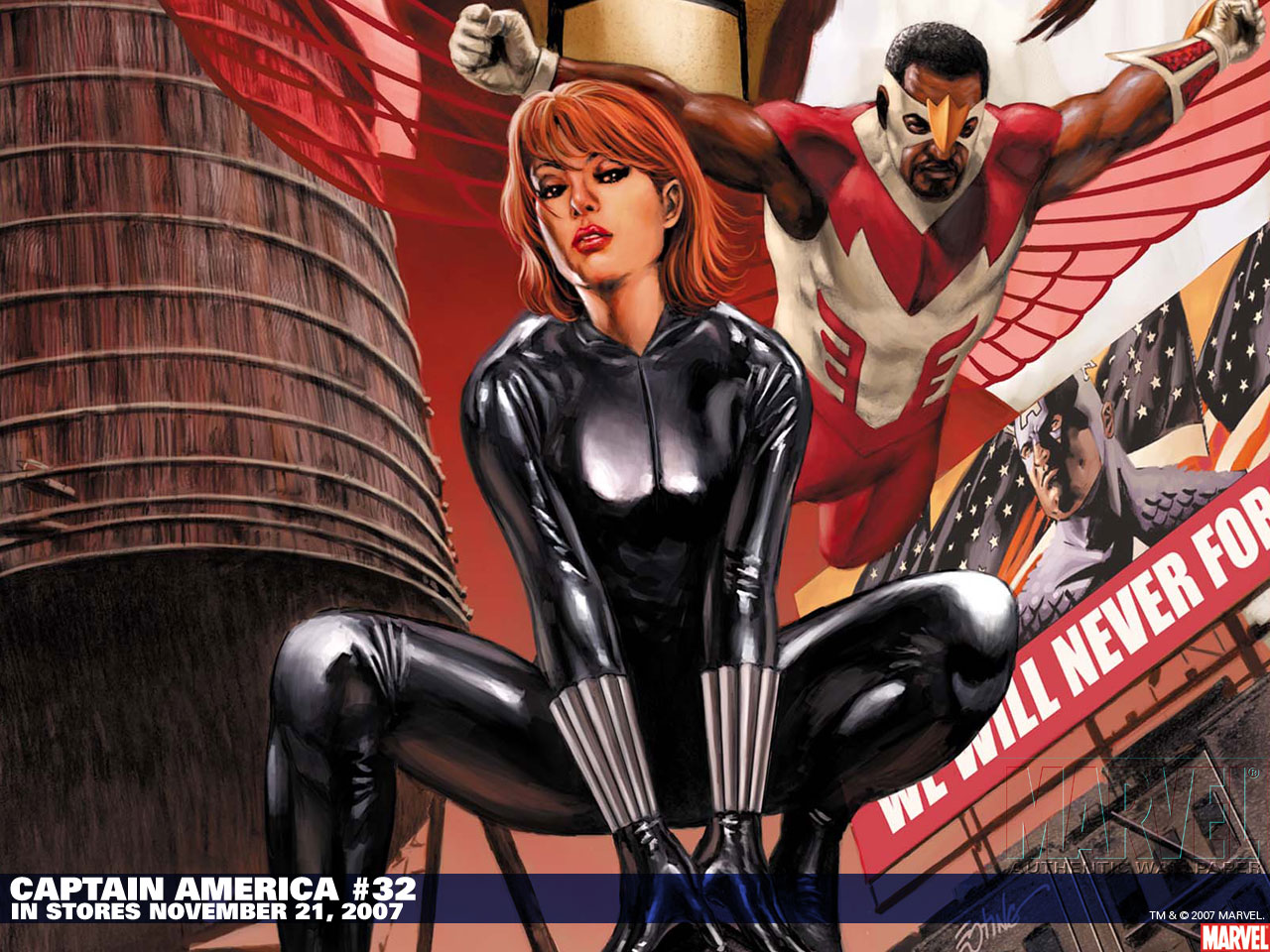 Falcon and Black Widow wallpaper   Animebay Wallpapers 1280x960