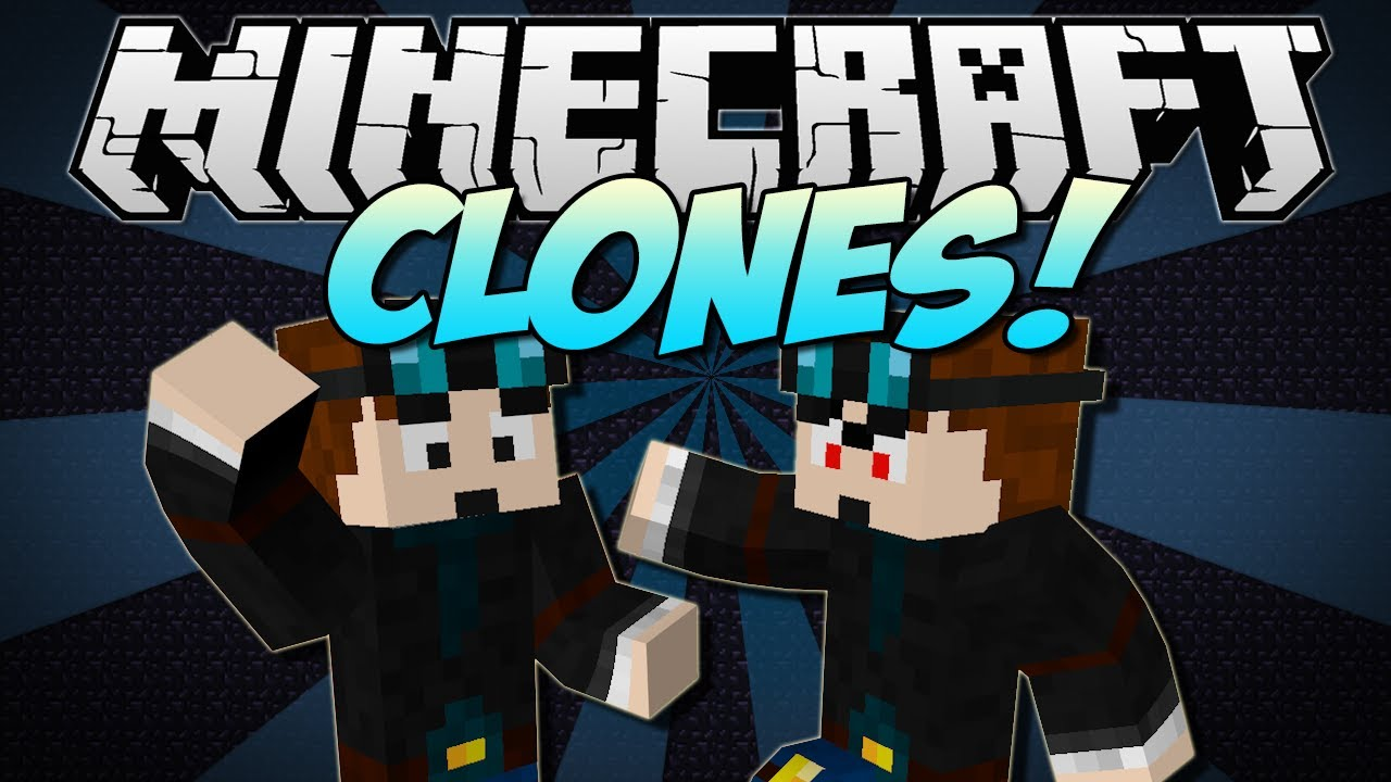 Minecraft CLONES Copy Yourself or ANY Mob Mod Showcase [152 1280x720
