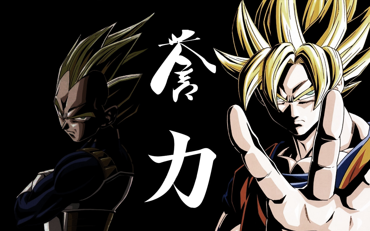 Animation DBZ Son Goku Vegeta Wallpaper 1280x800