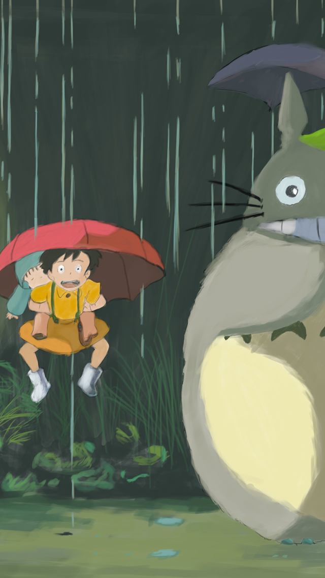 Totoro Phone Wallpaper - WallpaperSafari