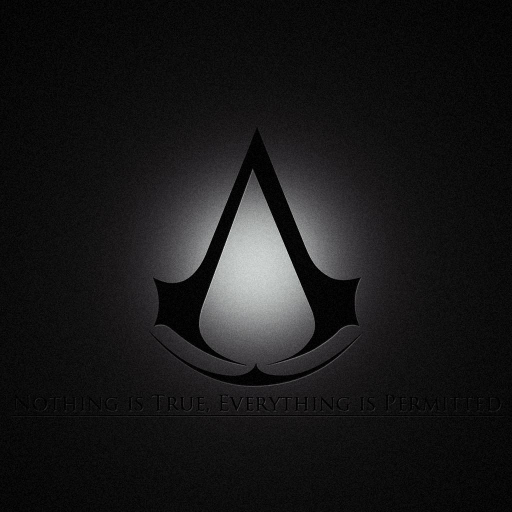 Assassins Creed Brotherhood Logo iPad Wallpaper iPad Retina HD 1024x1024