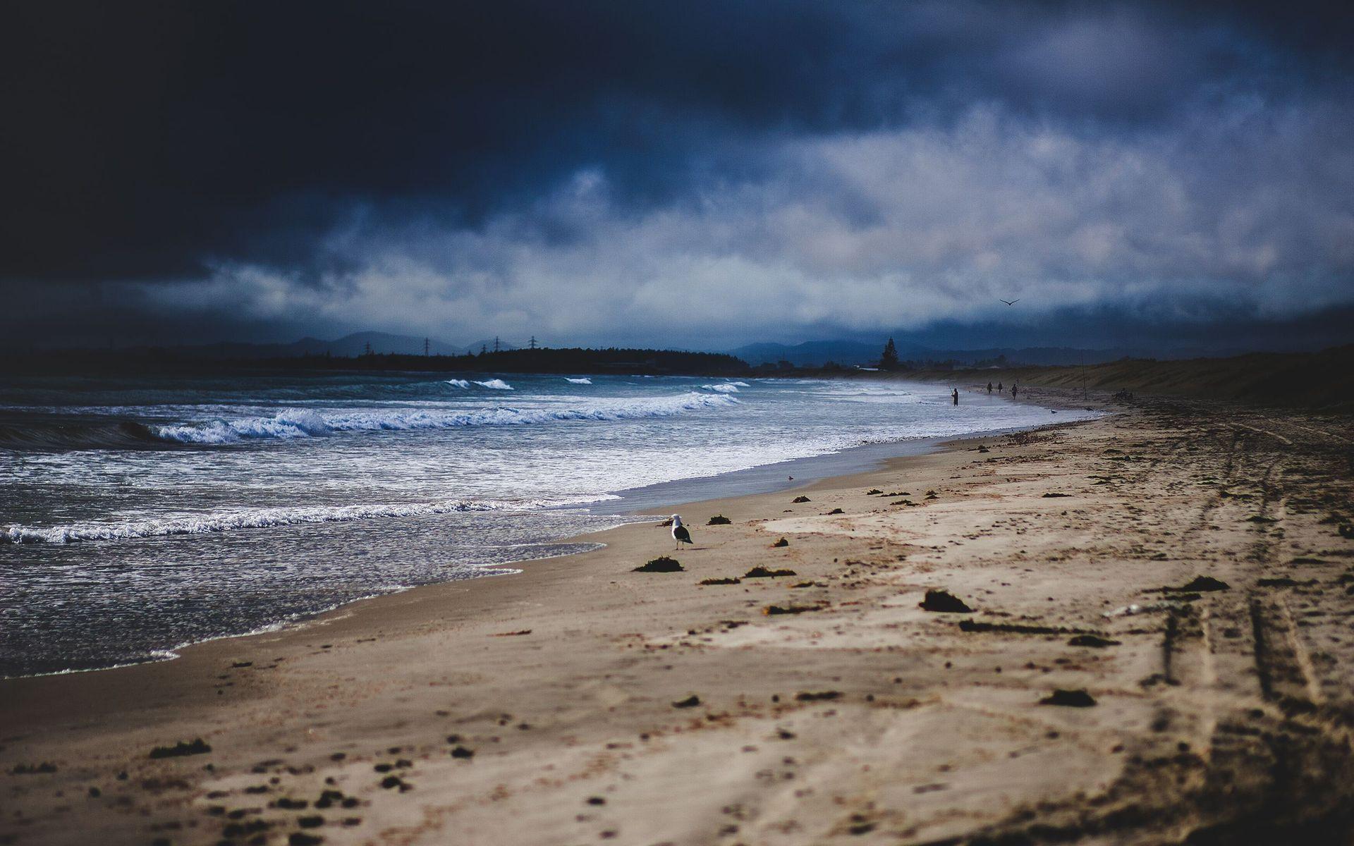 Stormy Beach Wallpaper - WallpaperSafari