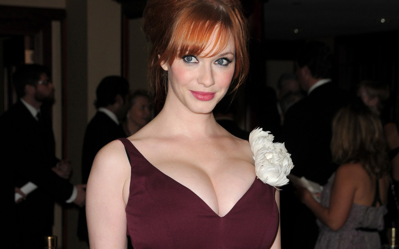 Hot Bio Celebrity Pictures Christina Hendricks Hot Hd Wallpaper 2013 1600x1000