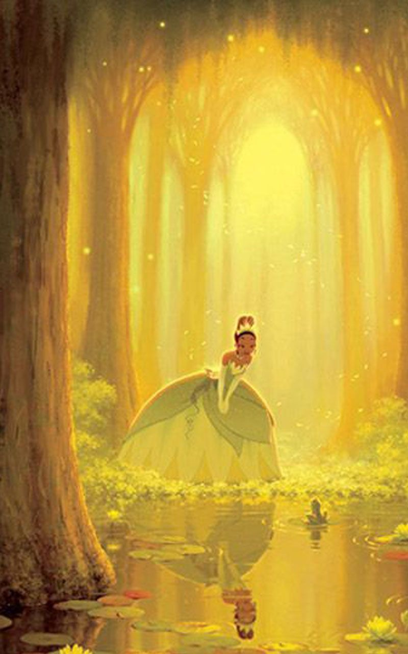 The Princess Tiana and the frog Wallpaper Wallpaper iphone 800x1280