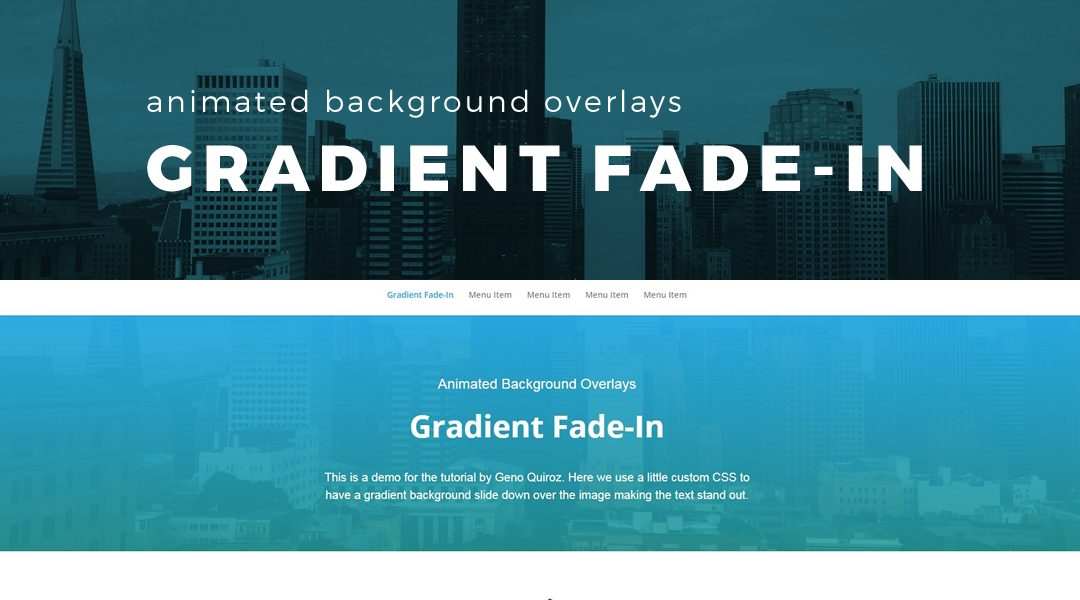 Animated Background Gradient Fade in Overlay 1080x600