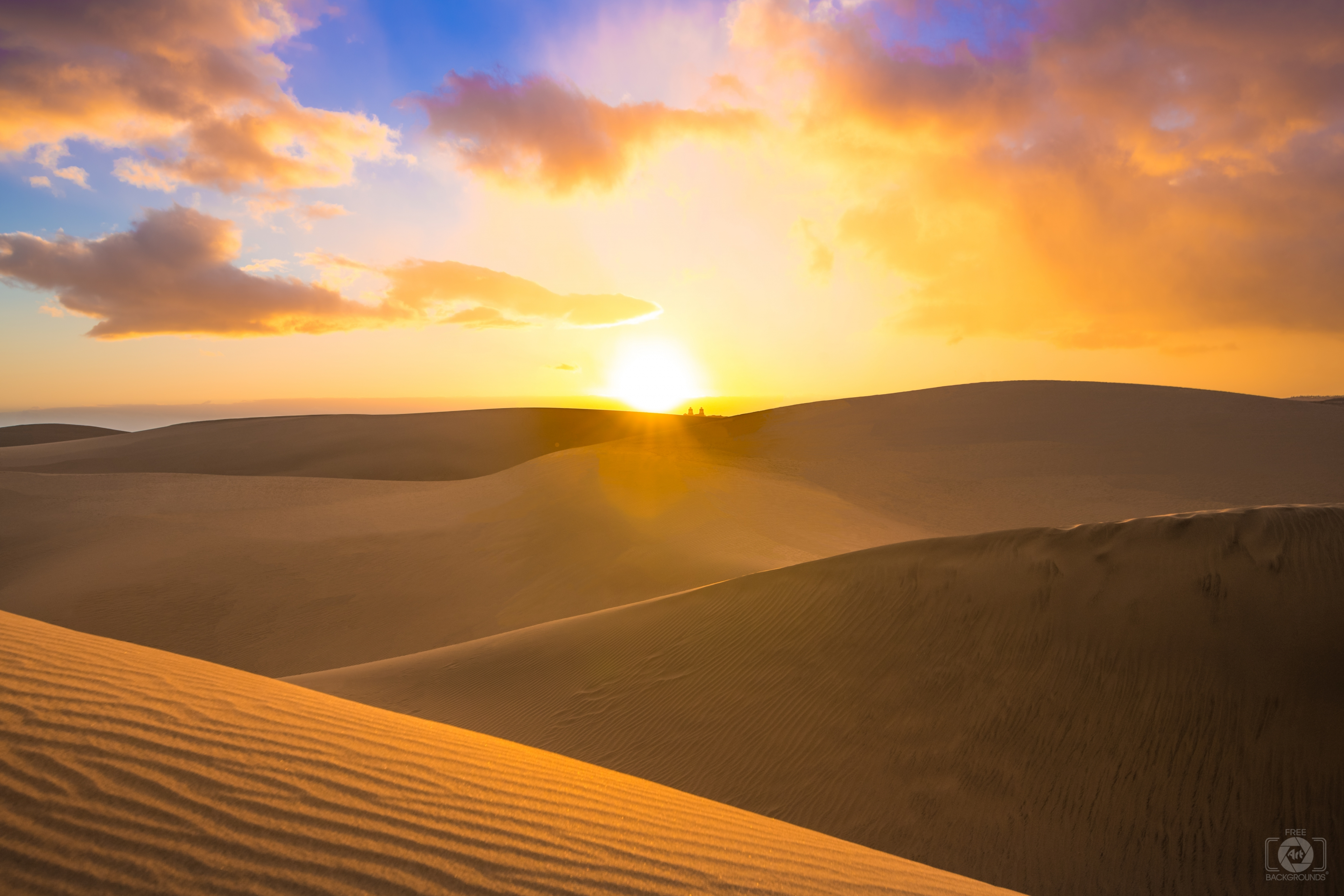 Desert Sunset Background   High quality Backgrounds 3840x2562