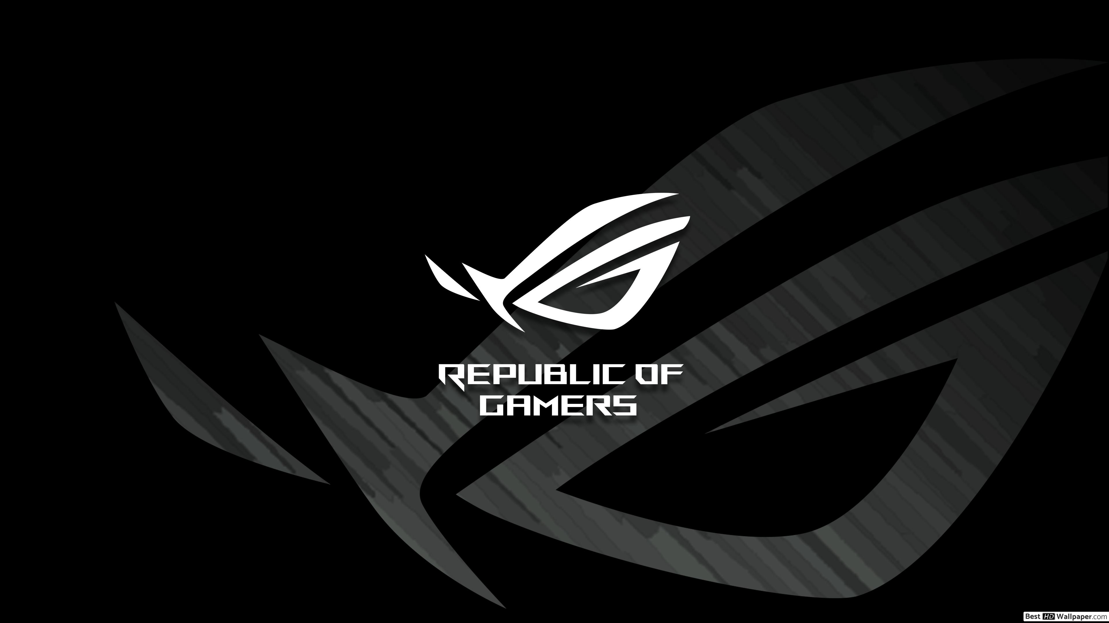 Asus ROG Republic of Gamers   ROG Classic Dark LOGO HD wallpaper 3840x2160