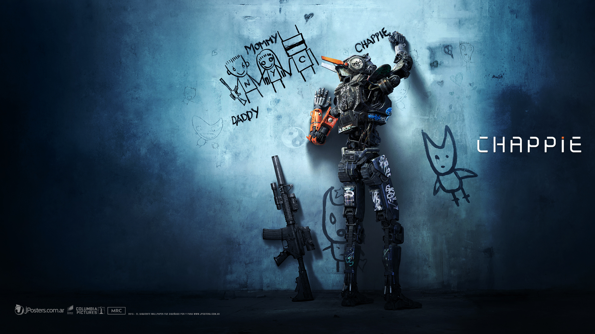 Chappie Wallpapers Download T715T95   4USkY 1920x1080