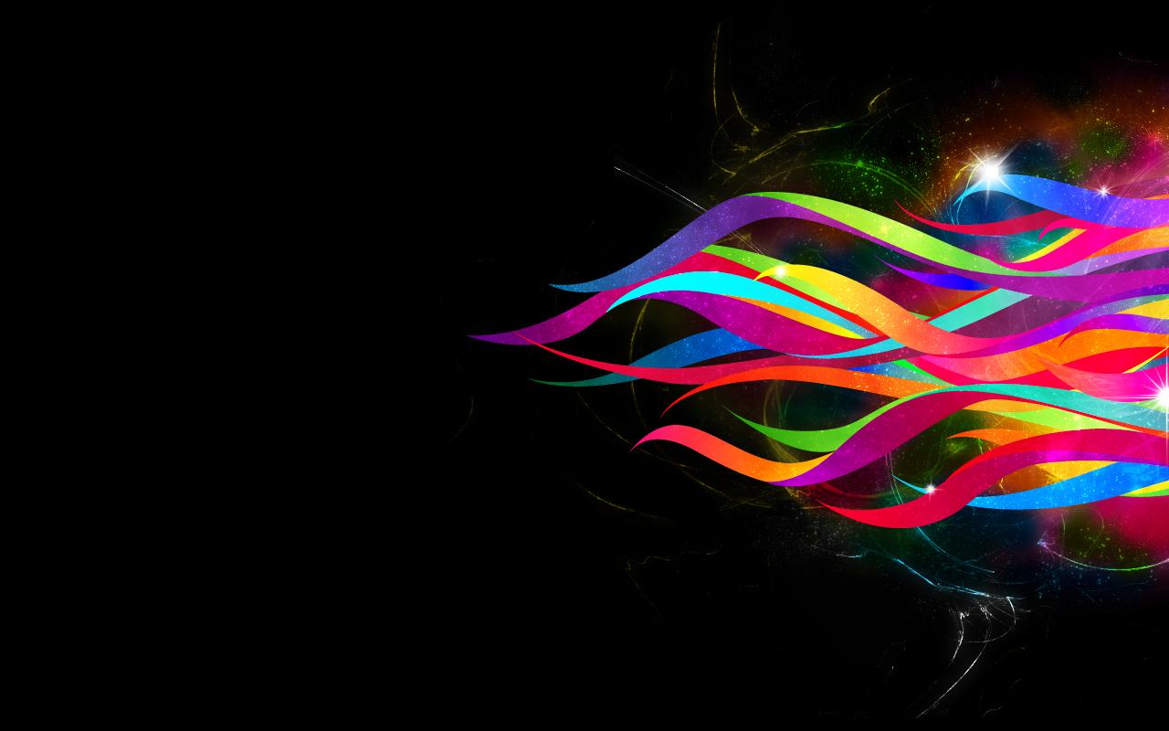 Abstract Ribbons   Wallpaper 155 1280x800