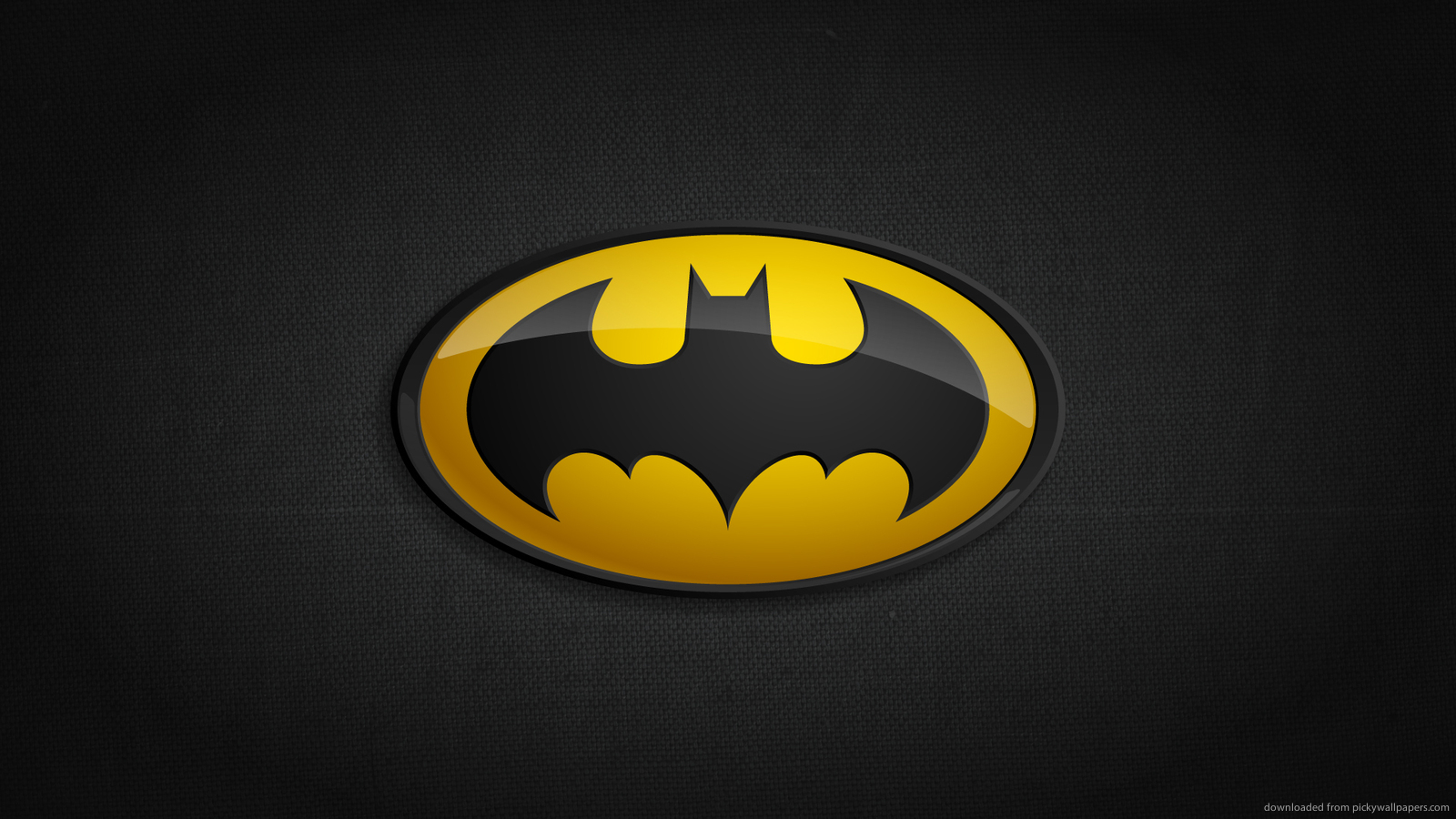 Superheroes Logos Wallpaper Batman classic logo for 1600x900