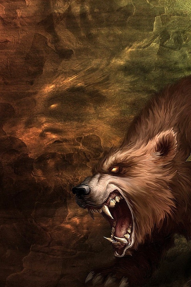 Wolf Simply beautiful iPhone wallpapers 640x960