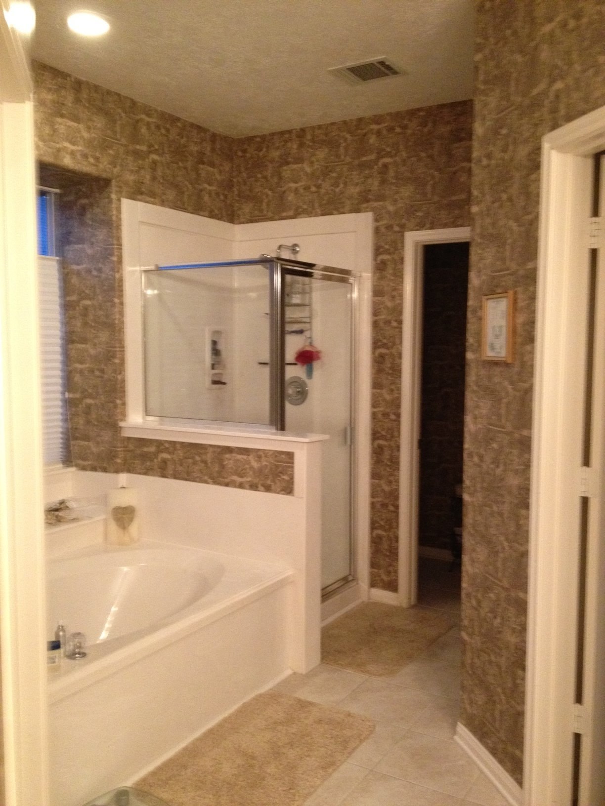 Master bathroom wallpaper HELP bath1jpg 1224x1632