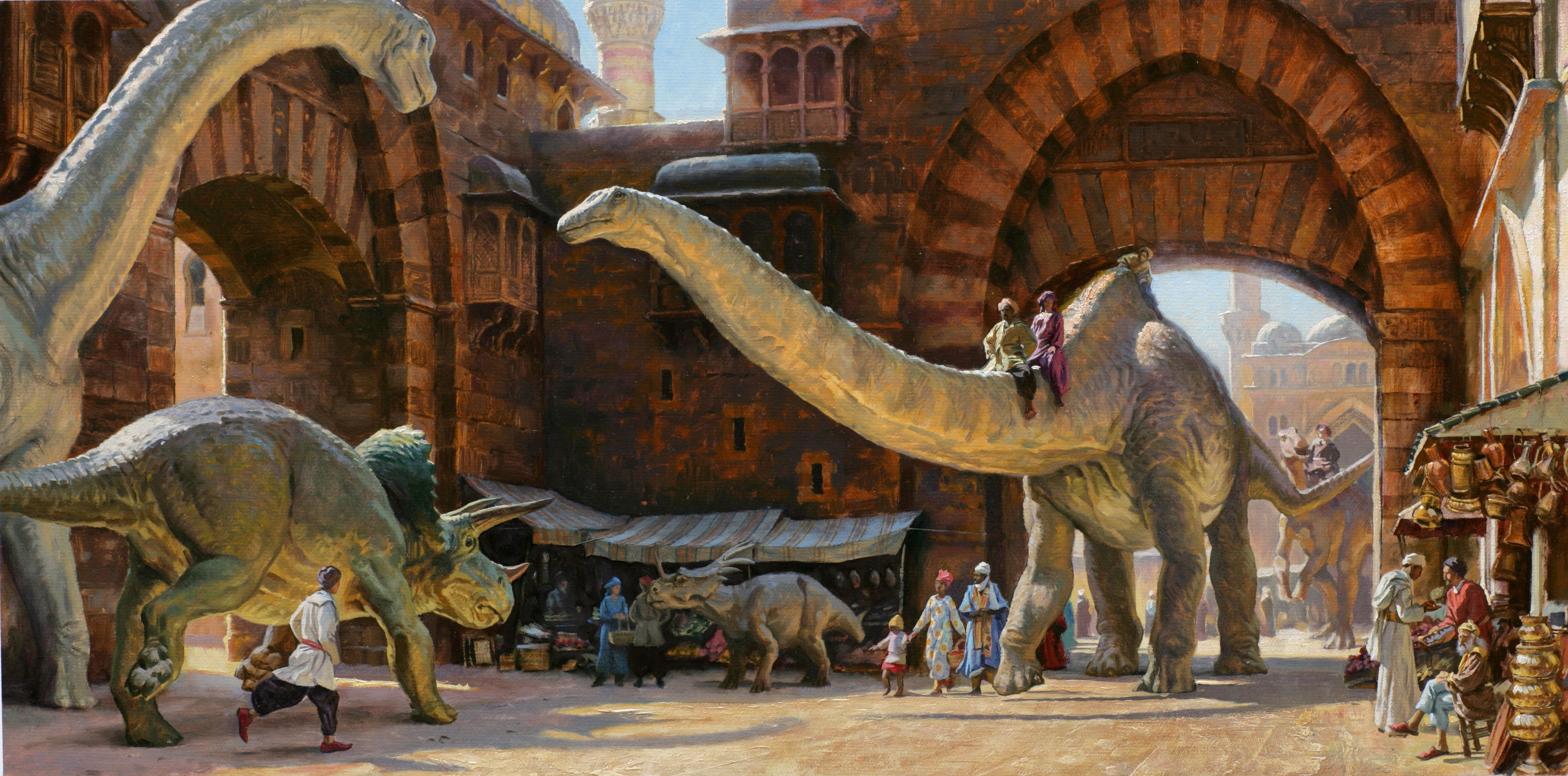 Dinotopia by James Gurney Hidden art Art Fantasy art 4200x2079