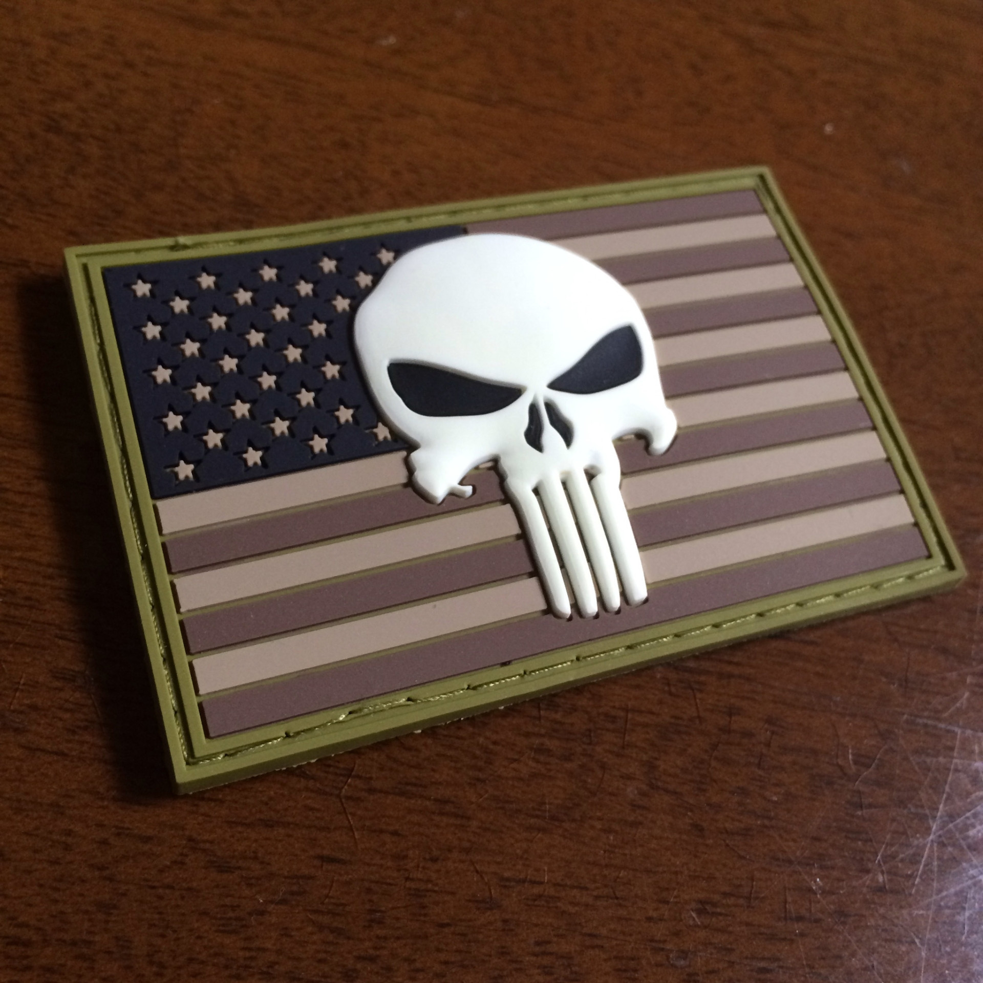 In The Dark Punisher Skull American Flag Patch American Sheepdog 1920x1920