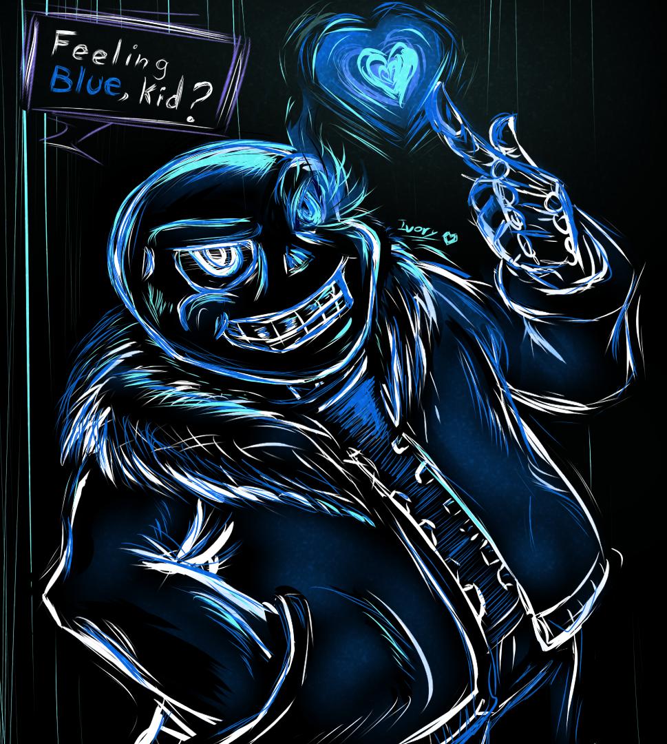 Feeling Blue   Undertale by Blakmy 969x1080